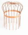 4 Inch Round Downspout Wire Strainer Copper